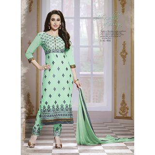 Trendz Apparels LightGreen Cotton Straight Fit Salwar Suit