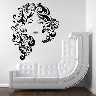 Creatick Studio Floral Hair Girl Wall Decal