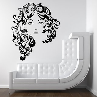 Creatick Studio Floral Hair Girl Wall Decal
