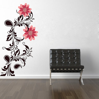 Creatick Studio Red Color Branch Wall Decal