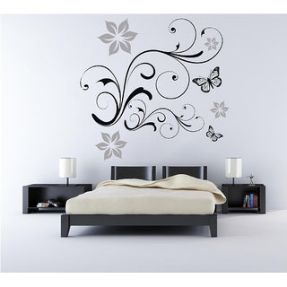 Creatick Studio Butterflies Floral Wall Decal