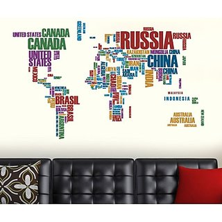 Creatick Studio State Names Wall Sticker
