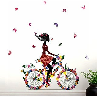 Creatick Studio Bycycle Butterflies Wall Sticker