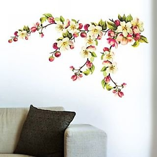 Creatick Studio Colourful Flowers Wall Sticker