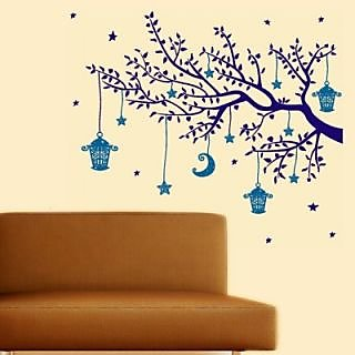 Creatick Studio Branch With Cages Wall Sticker