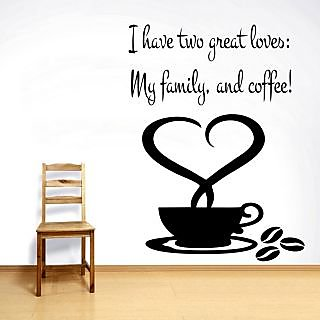 Creatick Studio My Family Coffee Wall Decal