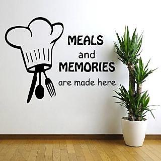 Creatick Studio Meals and Memories Wall Decal