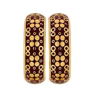 Maayra Sexy Brown Gold Meenakari Cocktail Party Drop Earrings