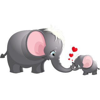 Creatick Studio Elephant cartoon Wall Decal