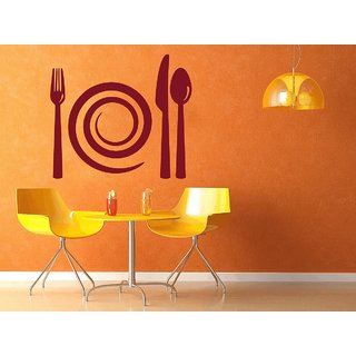 Creatick Studio Spiral Plate Cutlery Wall Decal