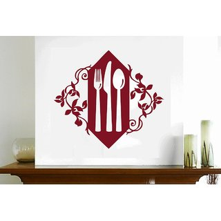 Creatick Studio Floral Cutlery Set Wall Decal