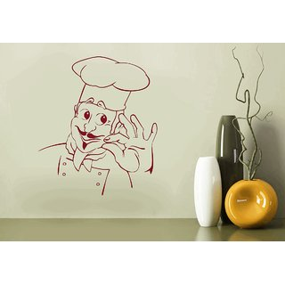 Creatick Studio Cartoon Chef Wall Decal