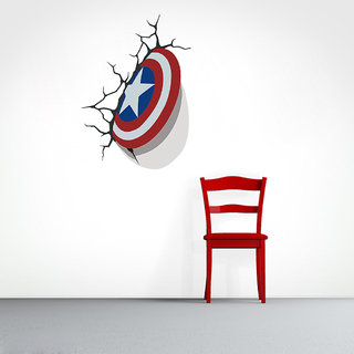 Creatick Studio Captain america sheild 3d Art Sticker