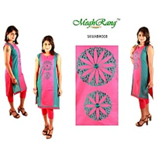 MeghRang Formal Embroidered Elegant Designer Chakra Kurti