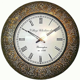 Handicraft Hardwood Wall Clock
