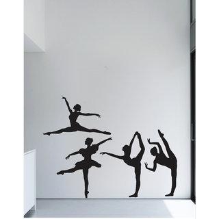 Creatick Studio Decal Style  Dancing Lady Wall Sticker