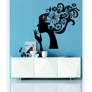 Creatick Studio Decal Style  Floral Lady Wall Sticker