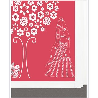 Creatick Studio Decal Style  Veiled Woman Wall Sticker