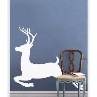 Creatick Studio Decal Style  Runnning Deer Wall Sticker