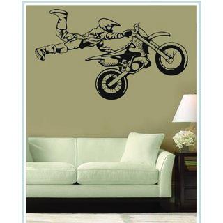 Creatick Studio Decal Style Stunt Biker Wall Sticker