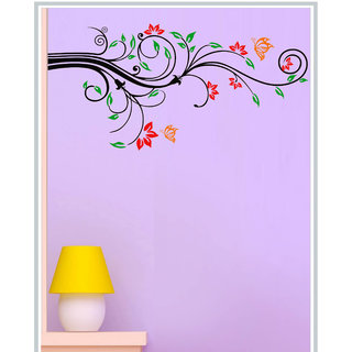 Creatick Studio Decal Style Colorful Floral Wall Sticker