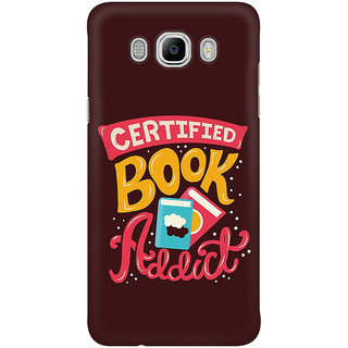 Dreambolic Certified Book Addict Graphic Mobile Back Cover