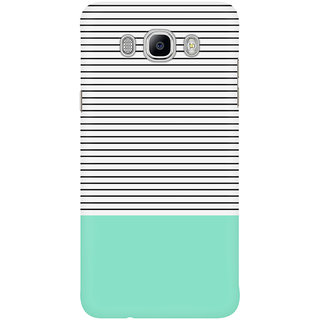 Dreambolic Minimal Mint Stripes Mobile Back Cover