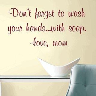 Creatick Studio Wash Your Hands Wall Decal