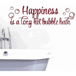 Creatick Studio Happiness is a Hot Bubble Bath Wall Decal