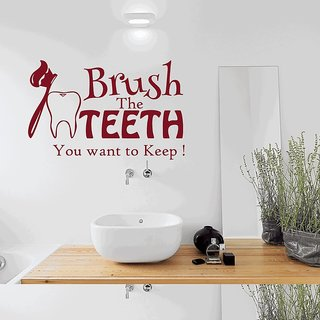 Creatick Studio Brush Teeth Wall Sticker
