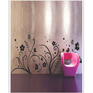 Creatick Studio Decal Style  Floral At Wall Sticker