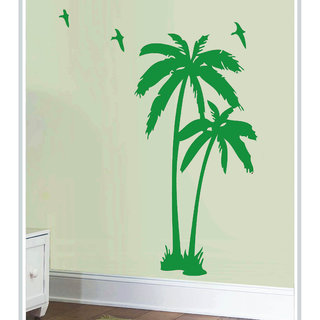 Creatick Studio Decal Style  Coconut Tree Wall Sticker