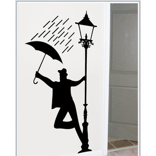 Creatick Studio Decal Style  Man At Lamppost Wall Sticker