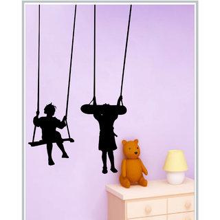 Creatick Studio Decal Style  Swinging Kids Wall Sticker