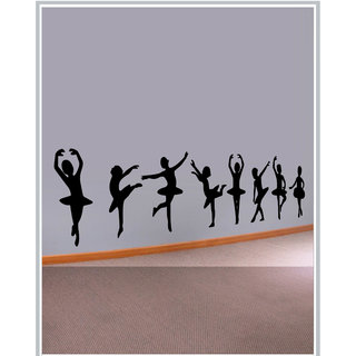 Creatick Studio Decal Style  Dancing Girls Wall Sticker