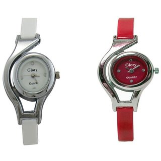 Glory Multicolor Analog Couple Watch - Set of 2