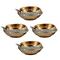 Indian Puja Brass Oil Lamp(Diameter - 3 Inch)
