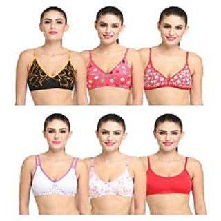 6d482c448e0ab Buy Bm fashion kair deal fancy bra set of six multicolor Online ...