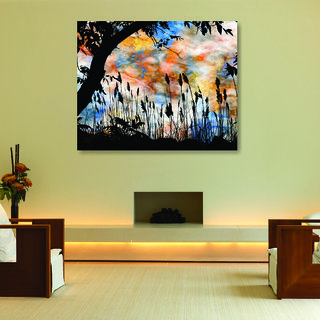 Chipakk Abstract Painting Framed Canvas 29 x 23.4, Inches Wall Dcor Art