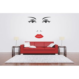 Wall Vinyl Sticker Room Sticker Mural Design Woman Face Eyes Lips Beauty 99