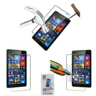 Acm Tempered Glass Screenguard For Nokia Lumia 525 Mobile Screen Guard Scratch Protector