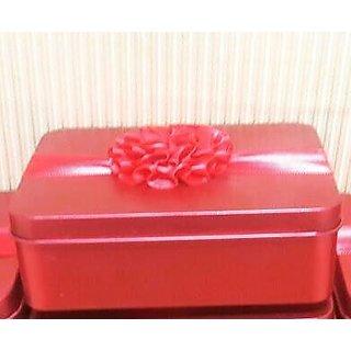 A Very Cute  Red Utility Tin Box