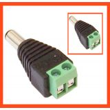 10 Pcs DC POWER CONNECTOR MALE FOR CCTV CAMERA POWER