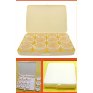 1 Box 12 Dobby Use For Jewellery Etc Box For Stone - Plastic
