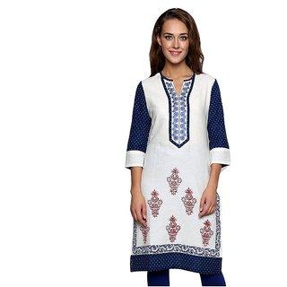 Women's Cotton White Kurti