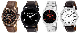 DCH (NWC-3) 4 Analog Watch Combo's For Men's/Boys