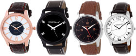 DCH NWC-5 Stylish 4 Leather Watches For Men's/Boys