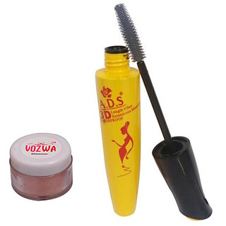 Vozwa Copper Shimmer Powder with Waterproof Mascara-(CopperShimmer1612Mascara)