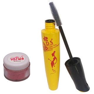 Vozwa Maroon Shimmer Powder with Waterproof Mascara-(MaroonShimmer1612Mascara)