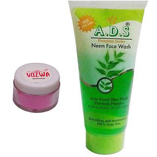 Vozwa Pink Shimmer Powder with Neem Face Wash-(PinkShimmerNeem)